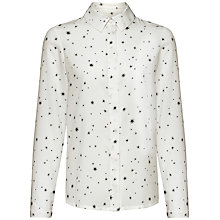 Buy Jaeger Starlight Print Blouse, Ivory / Black Online at johnlewis.com