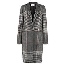Buy Hobbs Raven Coat, Grey Multi Online at johnlewis.com