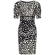 Buy Adrianna Papell Contrast Print Dress, Black Multi Online at johnlewis.com