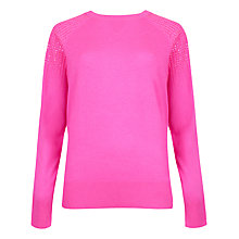 Buy Ted Baker Fairia Embellished Wool Silk Jumper, Pink Online at johnlewis.com