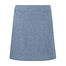 Buy Jigsaw Winter Herringbone Skirt, Pale Blue Online at johnlewis.com
