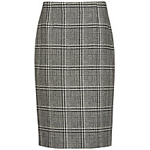 Buy Jaeger Boutique Checked Wool Skirt, Black & White Online at johnlewis.com