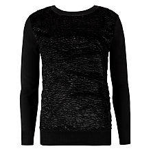 Buy Ted Baker Nalda Faux Fur Jumper, Black Online at johnlewis.com