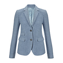Buy Jigsaw Winter Herringbone Jacket, Blue Online at johnlewis.com