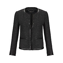 Buy Jigsaw Storm Tweed Jacket, Black Online at johnlewis.com