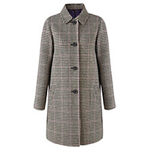 Buy Jigsaw Houndstooth Check Coat, Black Online at johnlewis.com