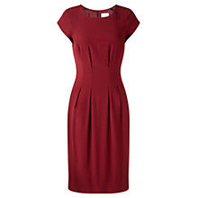 Buy Jigsaw Tailored Cap Sleeve Dress, Burgundy Online at johnlewis.com