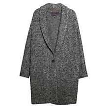 Buy Violeta by Mango Mohair Knitted Cocoon Coat, Medium Grey Online at johnlewis.com