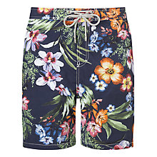 Buy Hackett London Floral Print Swim Shorts, Multi Online at johnlewis.com