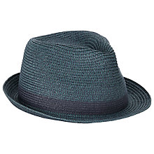 Buy John Lewis Braided Trilby Hat, Sea Green Online at johnlewis.com