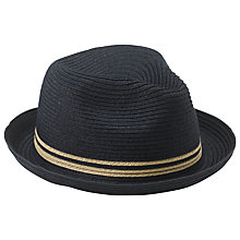 Buy John Lewis Packable Braid Trilby, Black/Stone Online at johnlewis.com