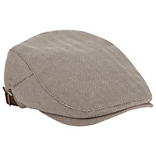 Buy John Lewis Herringbone Cotton Blend Flat Cap Online at johnlewis.com