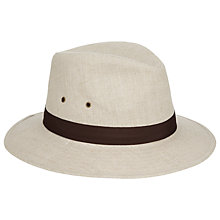 Buy John Lewis Linen Mix Ambassador Trilby Hat, Natural Online at johnlewis.com