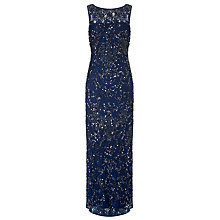 Buy Aidan Mattox Lace Beaded Gown, Twilight Online at johnlewis.com