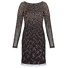 Buy Aidan Mattox Beaded Cocktail Dress, Black/Bronze Online at johnlewis.com