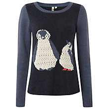 Buy White Stuff Penguin Jumper, Navy Online at johnlewis.com
