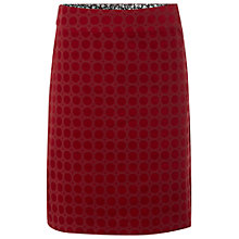 Buy White Stuff Daisy Velvet Skirt, Russian Red Online at johnlewis.com