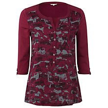 Buy White Stuff Display Printed Shirt, Smoked Berry Online at johnlewis.com