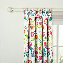 Buy little home at John Lewis Birds & Buttons Pencil Pleat Blackout Lined Curtains Online at johnlewis.com