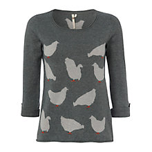 Buy White Stuff Chicken Print Jumper, Tractor Online at johnlewis.com