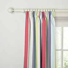 Buy little home at John Lewis Birds & Buttons Harrison Striped Pencil Pleat Blackout Lined Curtains Online at johnlewis.com