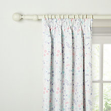 Buy little home at John Lewis Enchanted Garden Pencil Pleat Blackout Lined Curtains Online at johnlewis.com