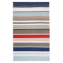 Buy little home at John Lewis Striped Rug, Blue Online at johnlewis.com