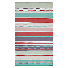 Buy little home at John Lewis Striped Rug, Pink Online at johnlewis.com