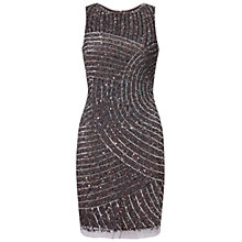 Buy Aidan Mattox Shimmering Cocktail Dress, Gunmetal Online at johnlewis.com