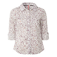 Buy White Stuff Stable Print Long Sleeve Shirt, White Online at johnlewis.com