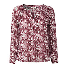 Buy White Stuff Squirrel Print Top, Plum Online at johnlewis.com