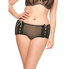 Buy Curvy Kate Tease Me Suspender Short Briefs, Black / Gold Online at johnlewis.com