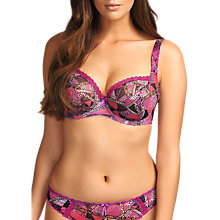 Buy Freya Instinct Plunge Balcony Bra, Magenta Online at johnlewis.com