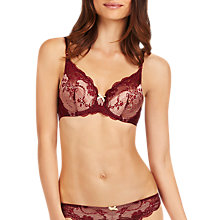 Buy Elle Macpherson Intimates Oasis Contour Plunge Bra, Tawny Port / Winter Wheat Online at johnlewis.com