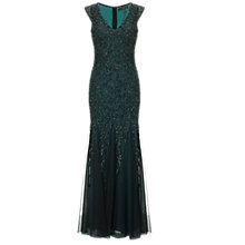 Buy Aidan Mattox Maxi Beaded Gown, Forest Online at johnlewis.com
