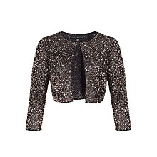 Buy Aidan Mattox Beaded Bolero, Black/Bronze Online at johnlewis.com