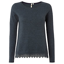Buy White Stuff  Plain Lace Knit Jumper, Smokey Teal Online at johnlewis.com