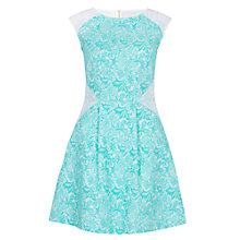 Buy Almari Lace Panel Dress, Mint Online at johnlewis.com