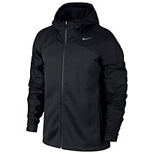 Buy Nike Shield Chainmaille Full Zip Running Jacket, Black Online at johnlewis.com