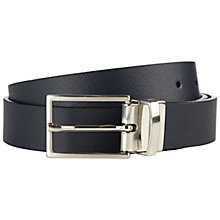 Buy Jaeger Leather Reversible Formal Belt, Navy Online at johnlewis.com