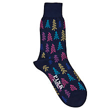 Buy Thomas Pink Winter Tree Socks, Navy Online at johnlewis.com