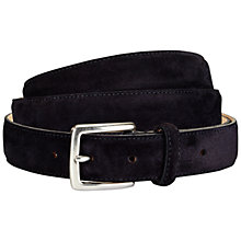 Buy Jaeger Suede Belt, Navy Online at johnlewis.com