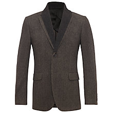 Buy Jaeger Basketweave Knitted Collar Jacket, Brown Online at johnlewis.com