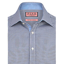 Buy Thomas Pink Zetland Dots Long Sleeve Shirt, White/Navy Online at johnlewis.com