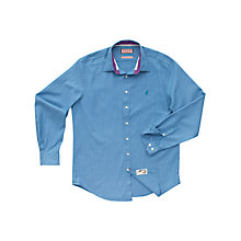 Buy Thomas Pink Blake Check Shirt, Blue Online at johnlewis.com