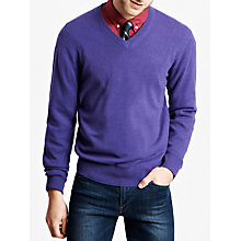 Buy Thomas Pink Kender Cashmere Jumper, Purple Online at johnlewis.com