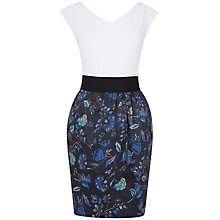 Buy Closet Contrast Dress, Blue Online at johnlewis.com