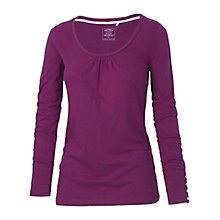 Buy Fat Face Belle Long Sleeve Cotton Top, Amethyst Online at johnlewis.com