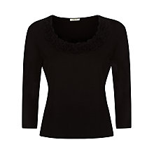 Buy Precis Petite Twist Neck Top, Black Online at johnlewis.com