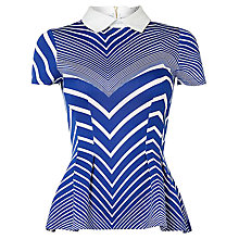 Buy Closet Stripe Colour Top, Blue Online at johnlewis.com